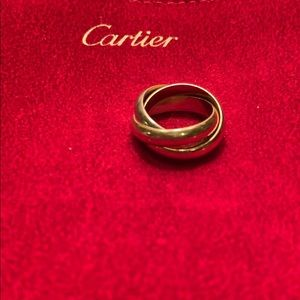 Authentic Cartier Trinity Rolling Ring